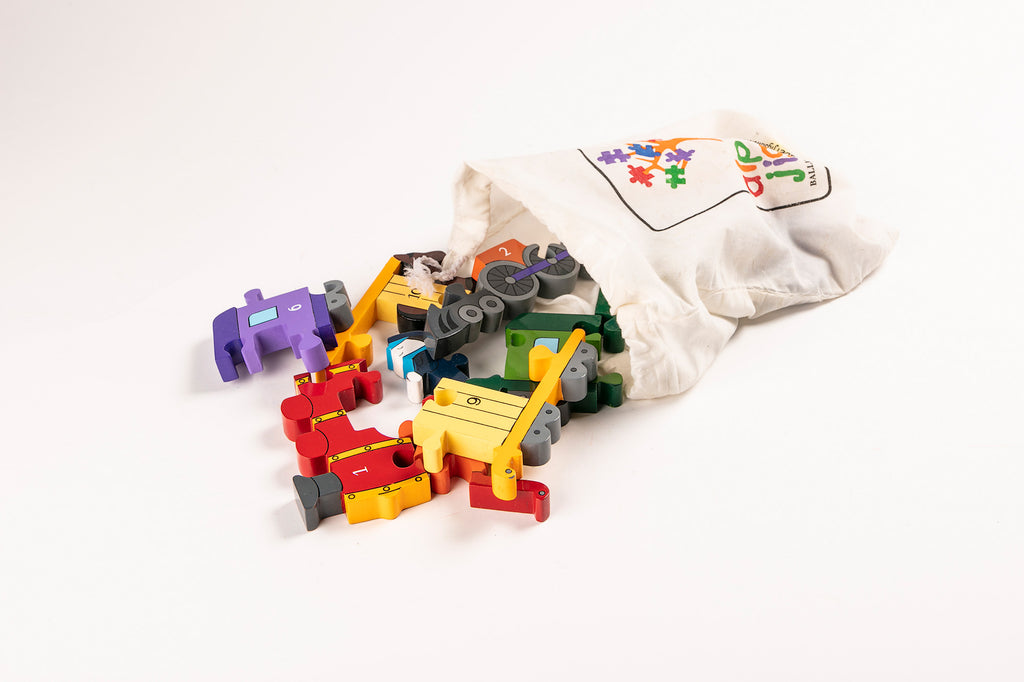 Number Train Jigsaw Puzzle Bag