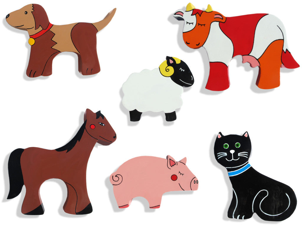 Farm Animals Magnet Set