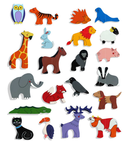 Wooden Animal Magnets Pick n Mix 5 Pack
