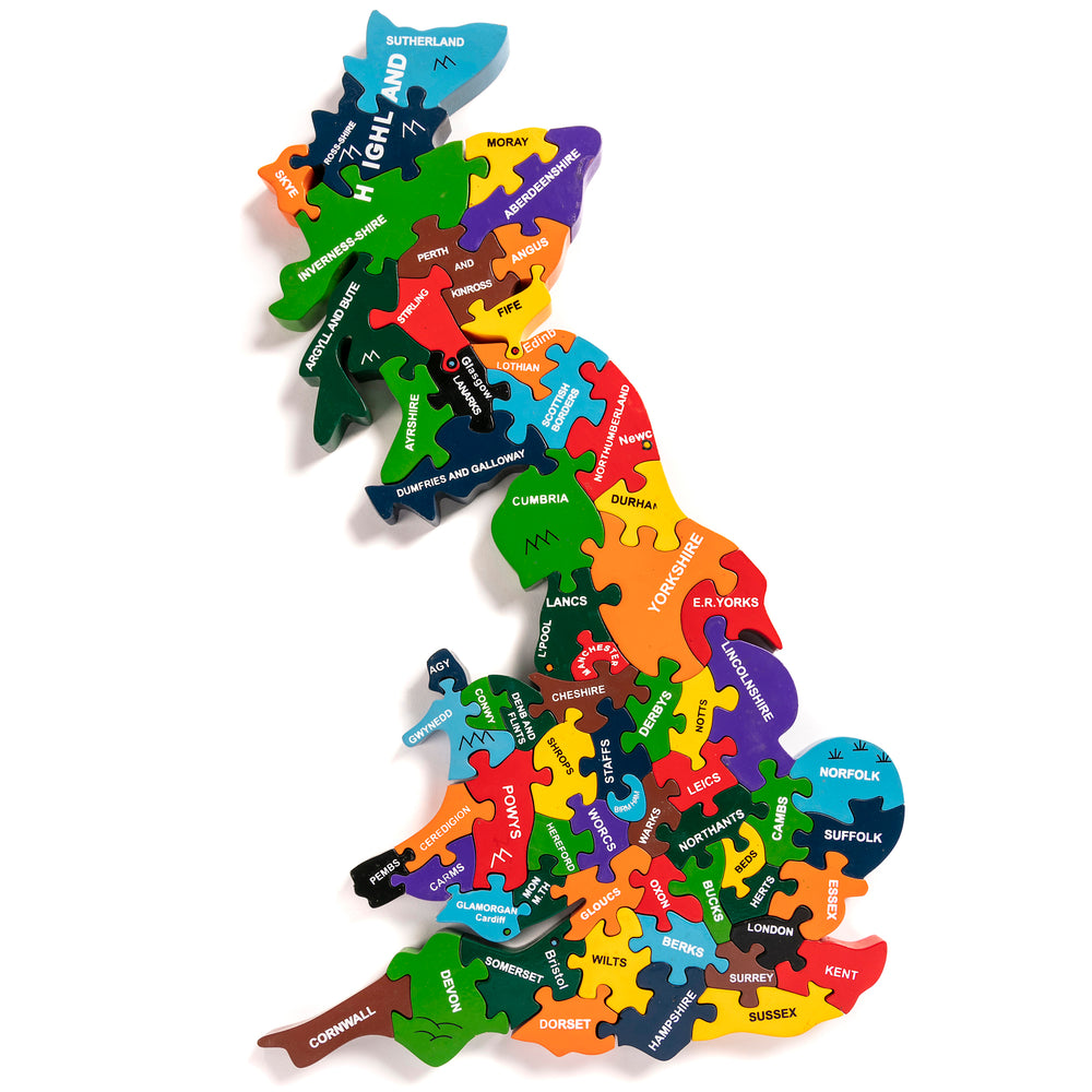 Map of Britain Jigsaw Puzzle