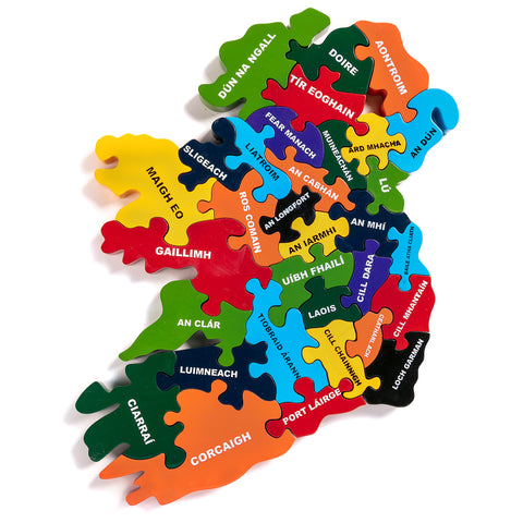 Map of Ireland Jigsaw Puzzle in Irish