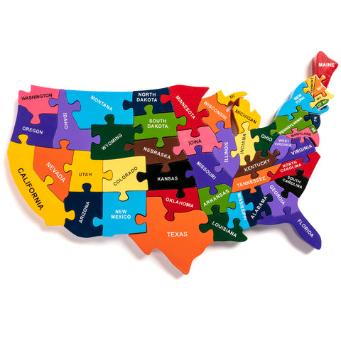 Map of the USA Jigsaw Puzzle