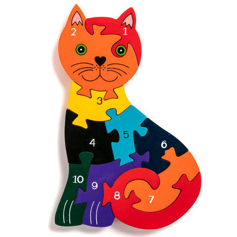 Number Cat Jigsaw Puzzle