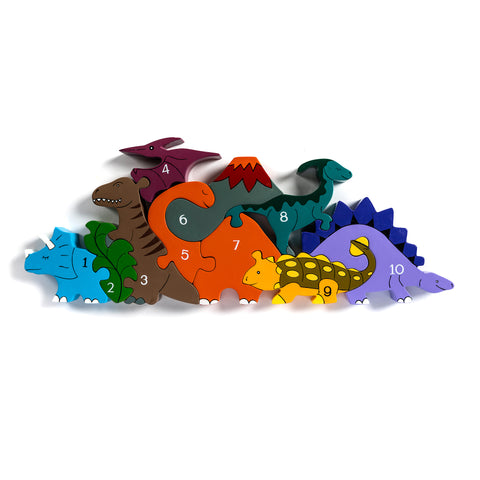 Number Dinosaur Row Jigsaw Puzzle