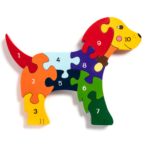 Number Dog Jigsaw Puzzle
