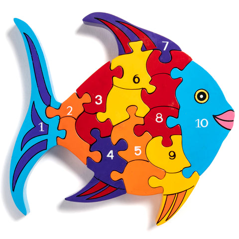 Number Fish Jigsaw Puzzle