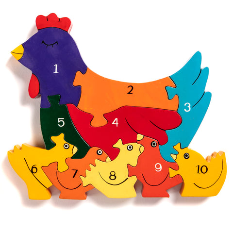 Number Hen Jigsaw Puzzle