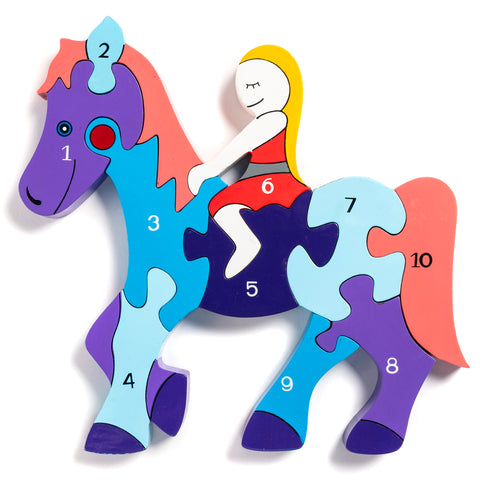 Number Horse Jigsaw Puzzle