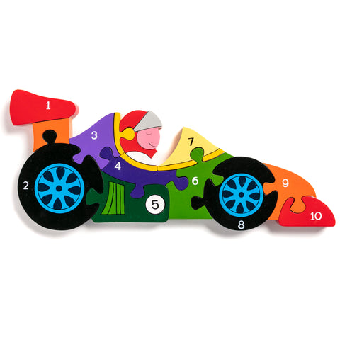 Number Racing Car Jigsaw Puzzle