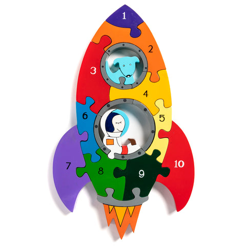 Number Rocket Jigsaw Puzzle