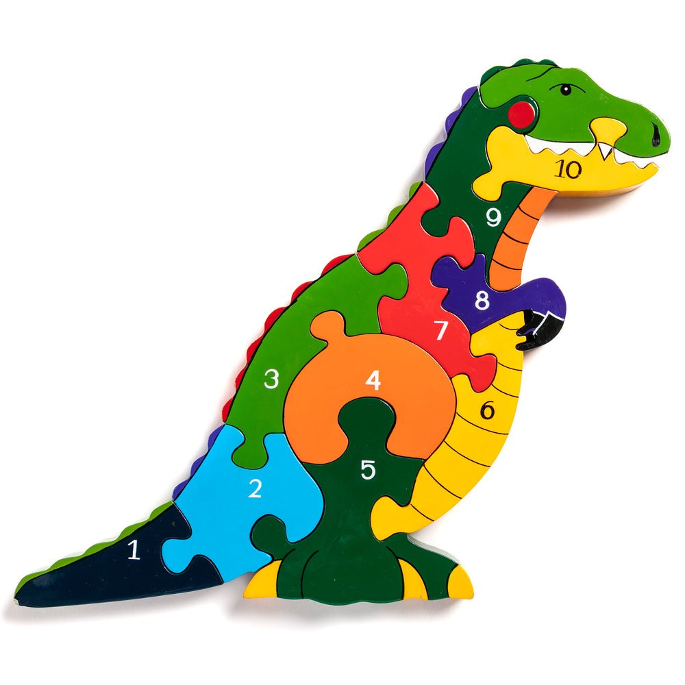 Number T-Rex Jigsaw Puzzle
