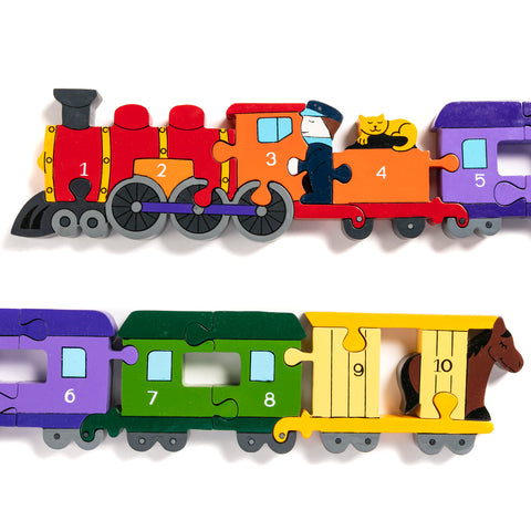 Number Train Jigsaw Puzzle