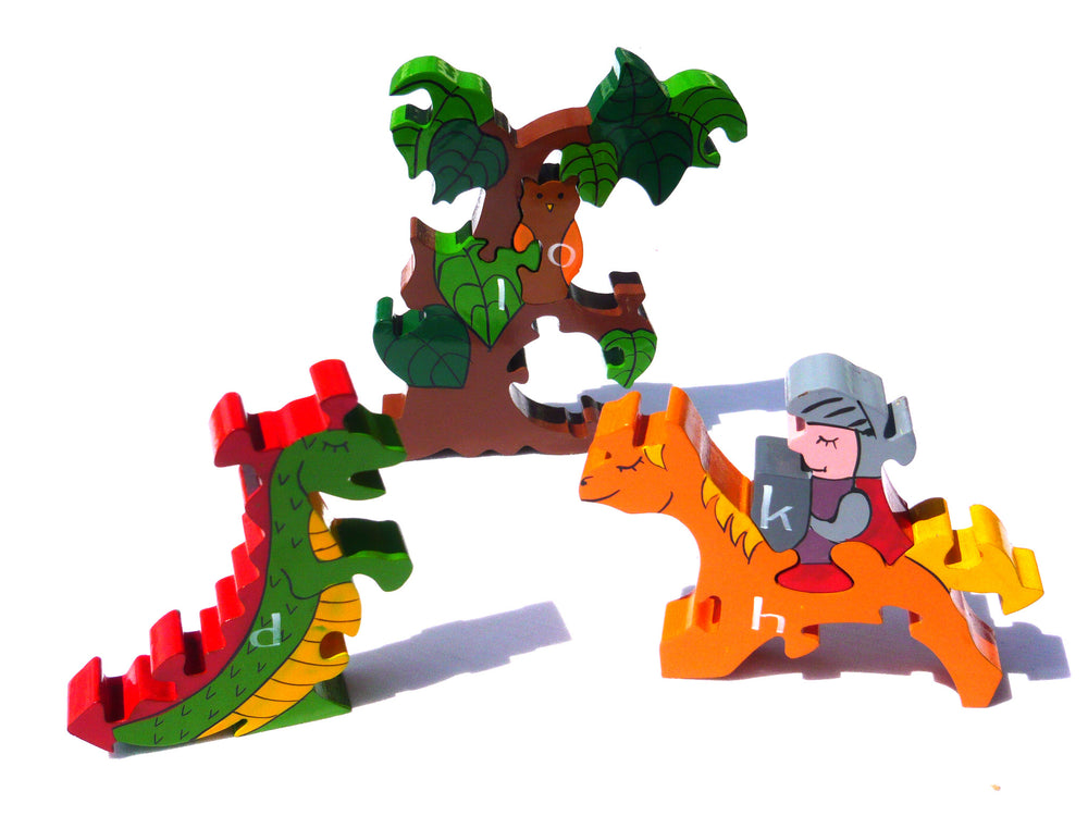 Alphabet Sun and Moon Jigsaw & Playset Pieces Zoom