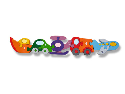 Number Vehicle Row Jigsaw