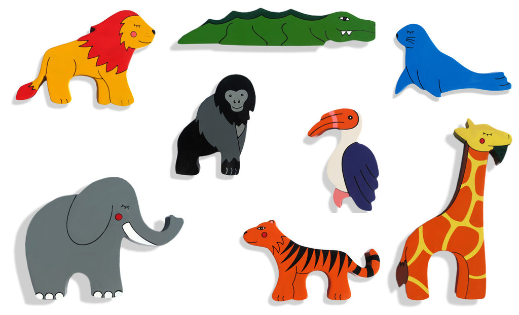 Wildlife Animals Magnet Set (8 magnets)