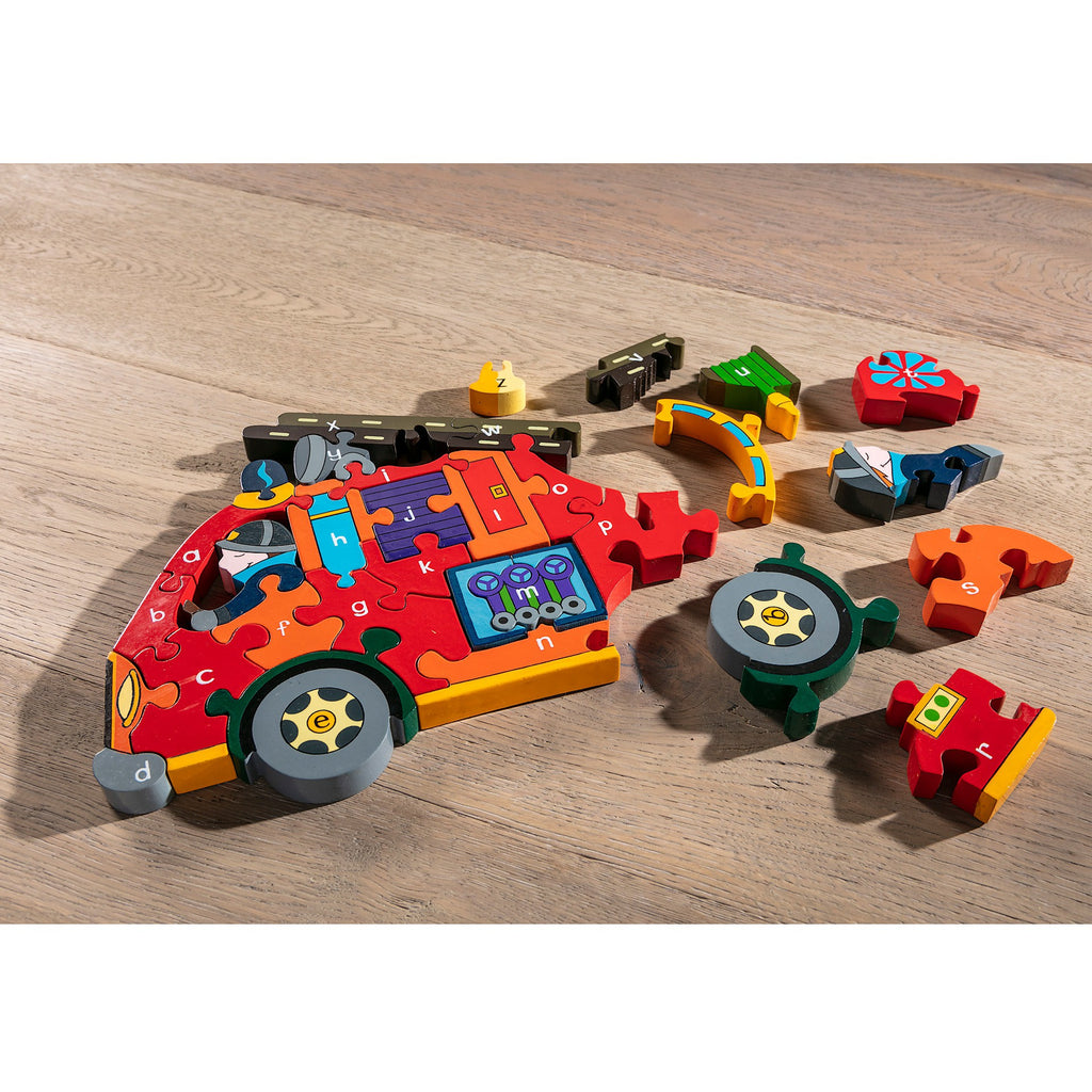 Alphabet Fire Engine Jigsaw Pieces