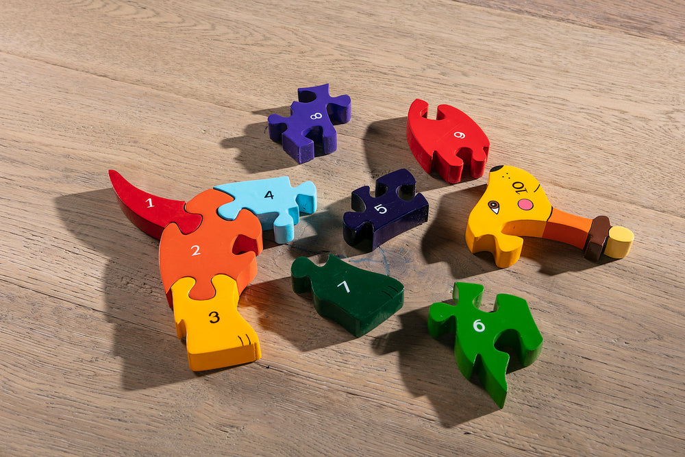 Number Dog Jigsaw Pieces