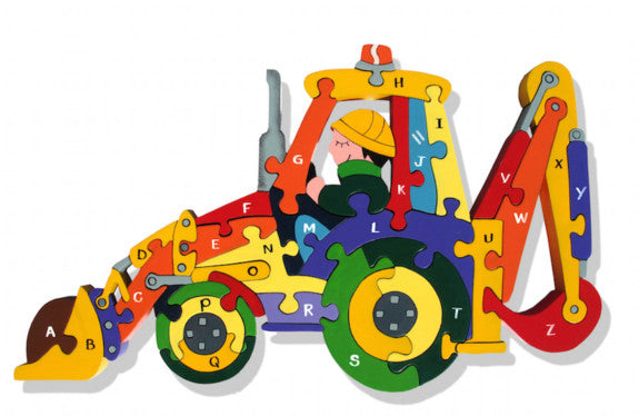 Alphabet Backhoe Jigsaw Puzzle