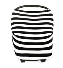 BayB Brand Stretchy Car Seat Cover - Black Stripe
