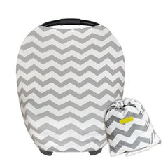 BayB Brand Stretchy Car Seat Cover - Gray Chevron