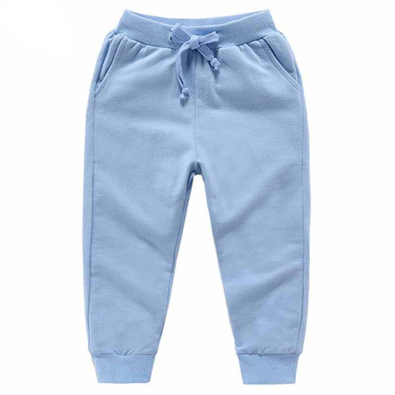 Solid Color Elastic Waist Soft Baby Pants