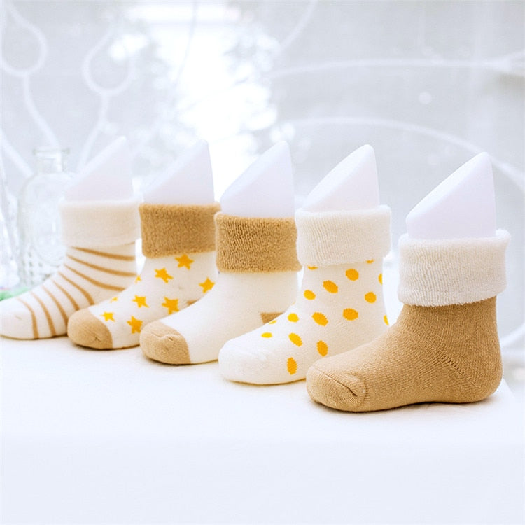 Baby's Color Tones Socks 5 Pairs Set