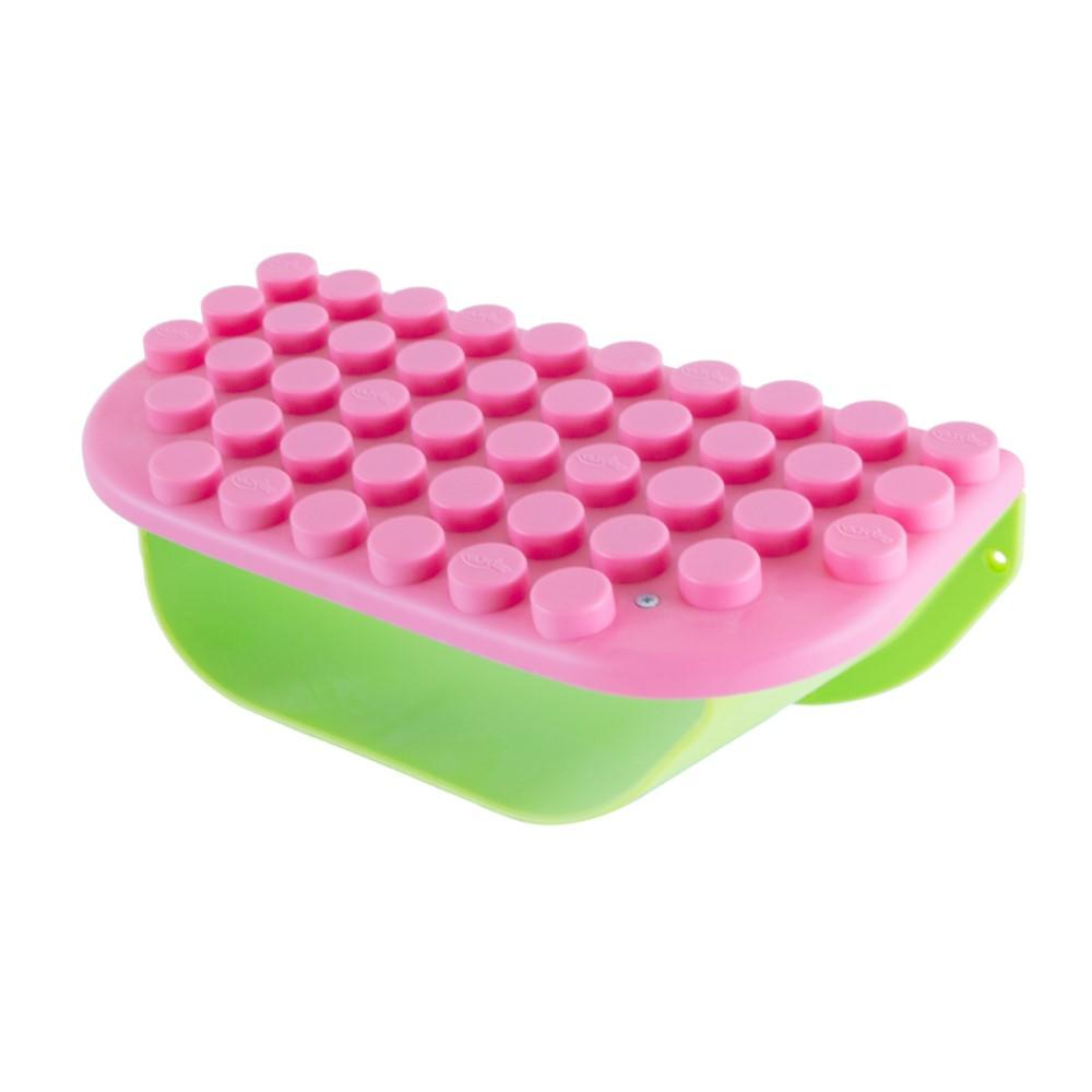 UNiPLAY Soft Building Blocks Storage Shelf Pink