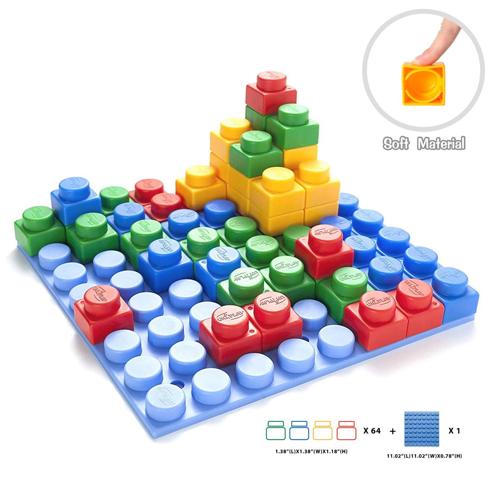 UNiPLAY Platform with 64pcs Soft Building Blocks
