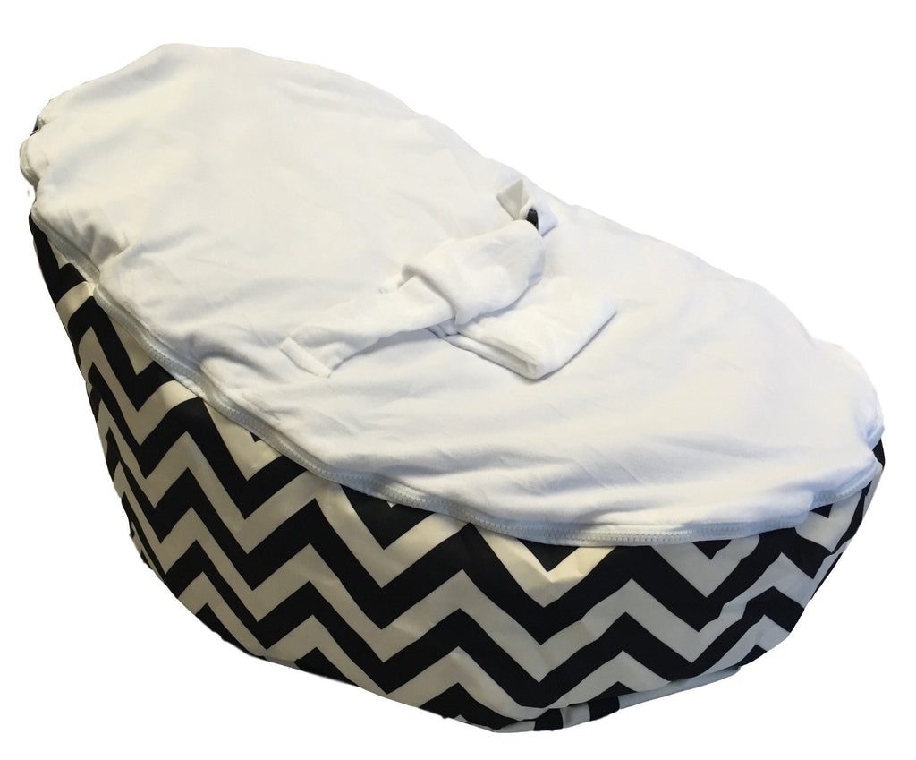 BayB Brand Baby Bean Bag - Black Chevron Bean Bag BayB Brand
