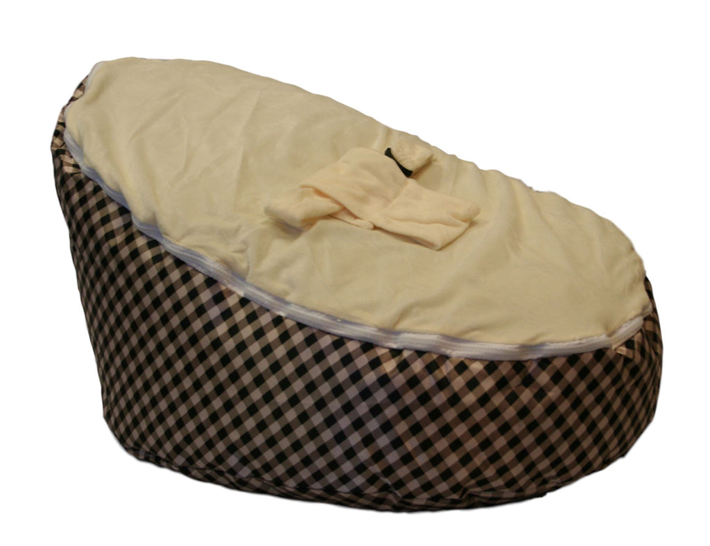BayB Brand Baby Bean Bag - Cream Plaid Bean Bag BayB Brand