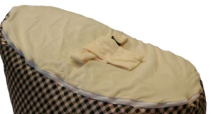 BayB Brand Baby Bean Bag Replacement Cover BayB Brand Cream