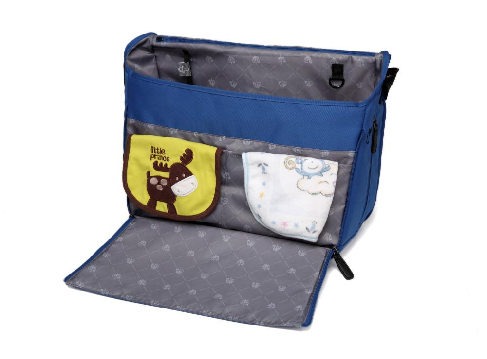 BayB Brand Blue Messenger Diaper Bag Diaper Bag Colorland