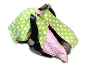 BayB Brand Car Seat Cover - Green Polka Dot Car Seat Cover BayB Brand