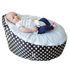 BayB Brand Baby Bean Bag - Black Polka Dot