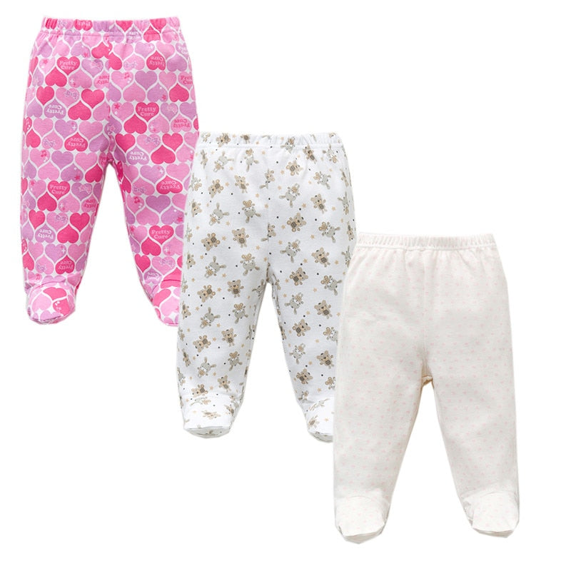 Baby Cotton Pants with Elastic Waist 3 pcs Set