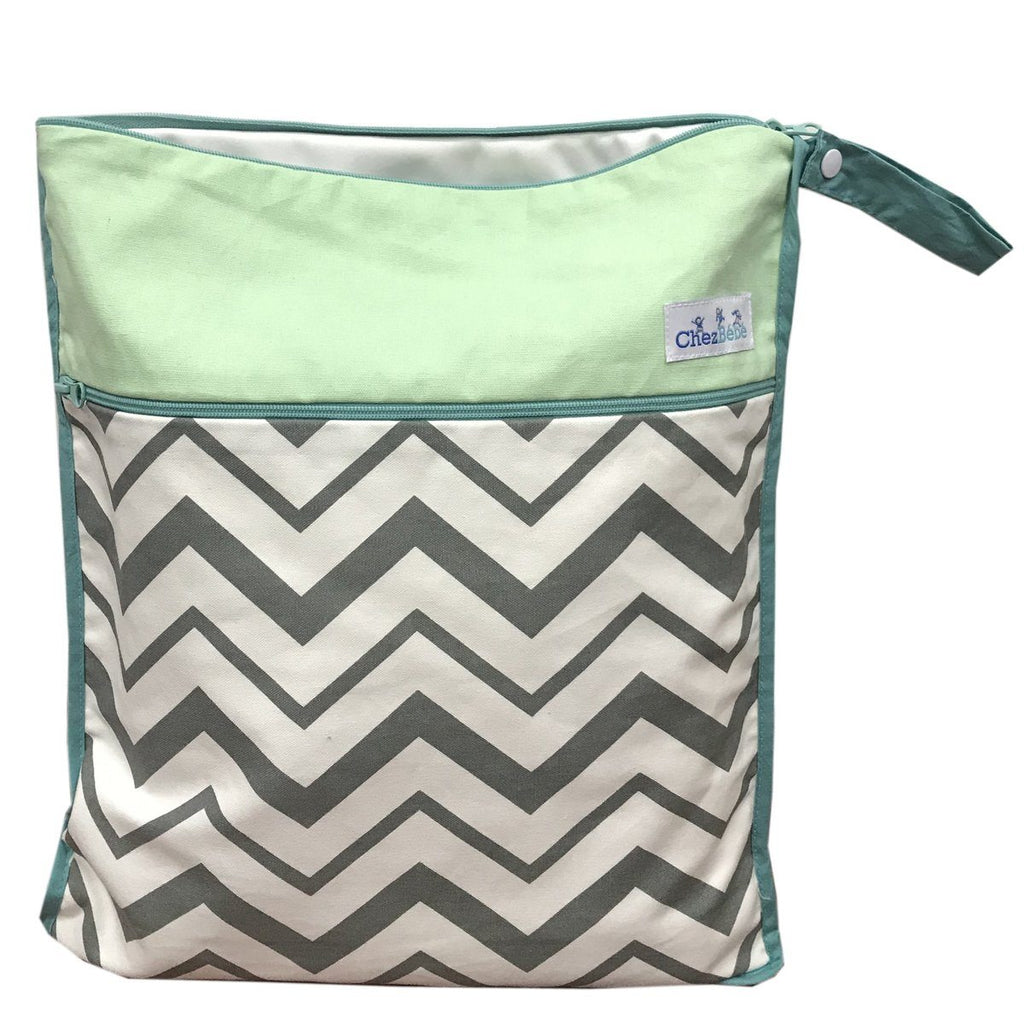 Chevron Seafoam Wetbag Blankets & Pillows Silver Pine