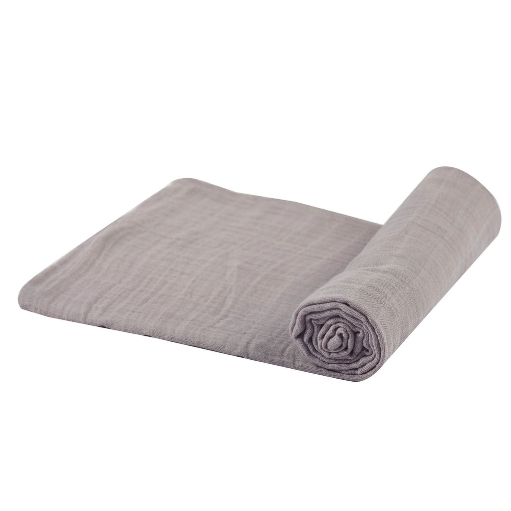 Cool Grey Swaddle Blankets & Pillows Lavender Charlie