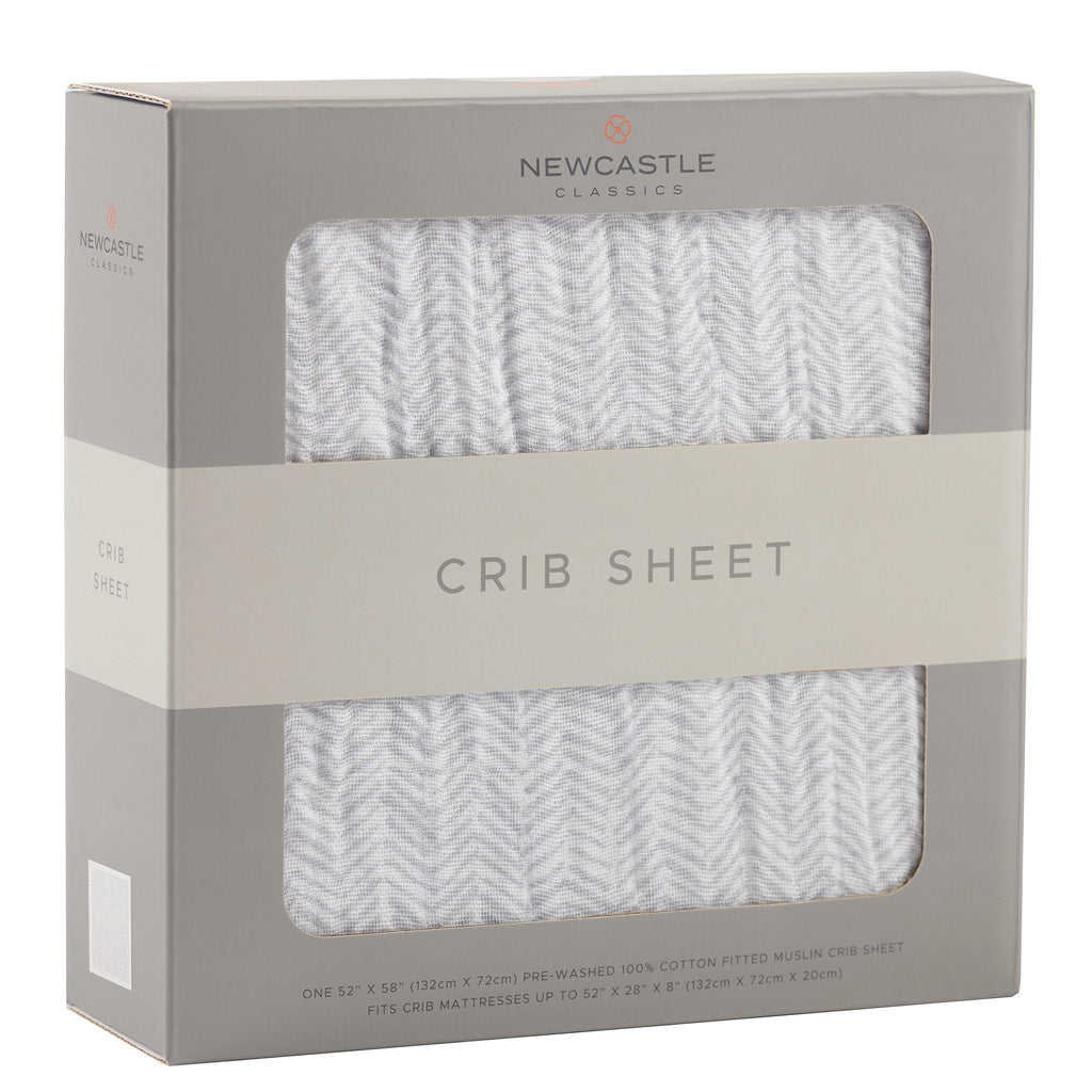 Herringbone Grey Crib Sheet Blankets & Pillows Lavender Charlie