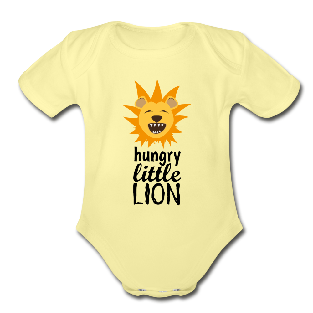Hungry Little Lion Onesie - washed yellow