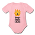 Hungry Little Lion Onesie - light pink