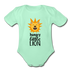 Hungry Little Lion Onesie - light mint