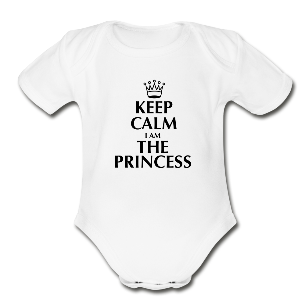 Keep Calm I am the Princess Onesie - white