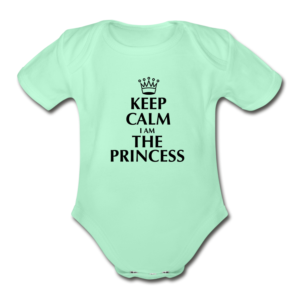 Keep Calm I am the Princess Onesie - light mint