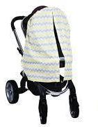 Yellow & Gray Chevron Stroller Cover Stroller Canopy Bambella Designs