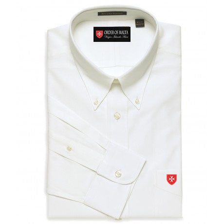 Dress Shirt Solid Color Button Down Collar
