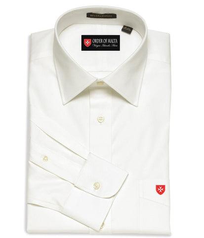 Dress Shirt Solid Color Spread Collar