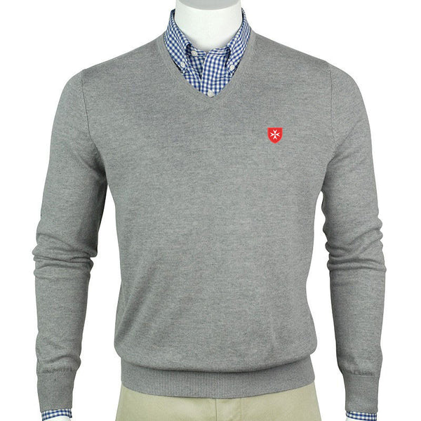 Sweater V-Neck Merino Wool