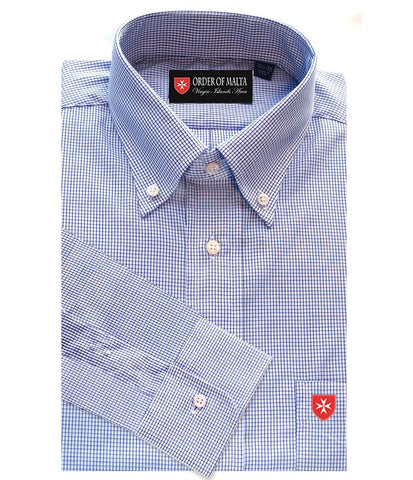 Dress Shirt Classic Navy Graph Check