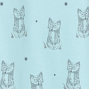Henley Footie - Patient Fox on Baby Blue