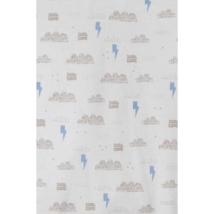 Henley Footie ~ Stormy Sky - on Baby Blue